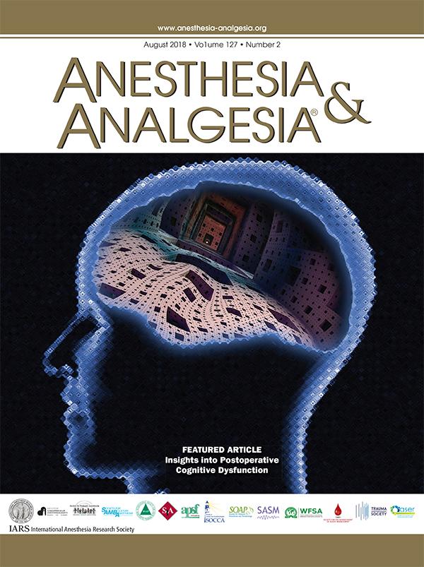 2018 Covers Artwork Anesthesia Analgesia