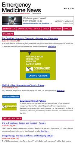 Collection Details : Emergency Medicine News