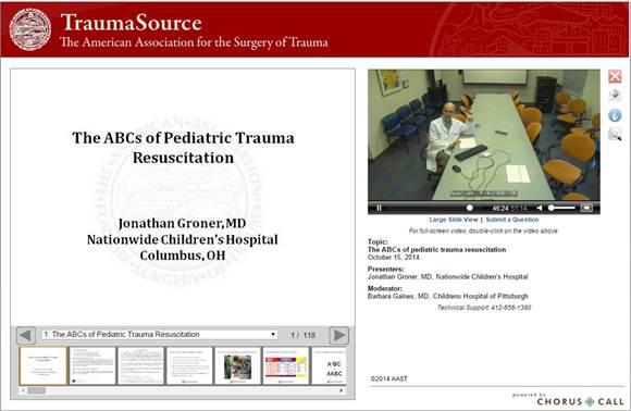 The ABCs of Pediatric Trauma Resuscitation - The American